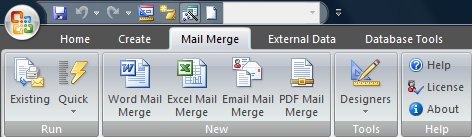 how to use mail merge in access