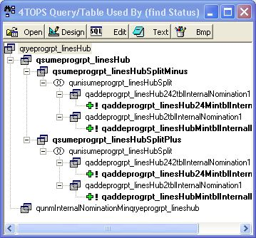 4TOPS Query Tree Editor for MS Access 97 screenshot